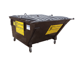 3yd Container: 5ft wide x 3ft high x 6.5ft long